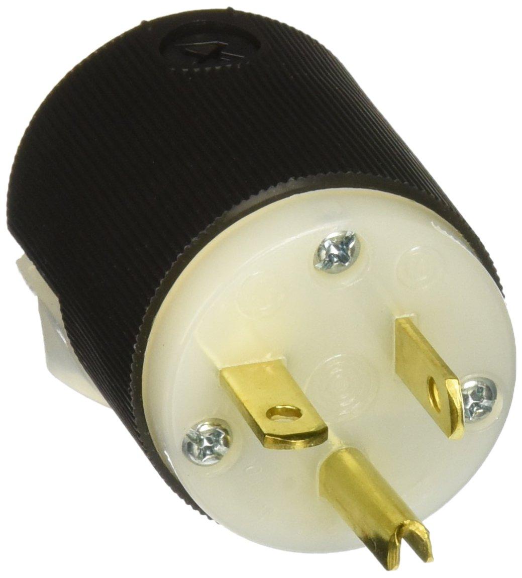 Hubbell HBL5466C Plug, 20 amp, 250V, 6-20P, Black/White