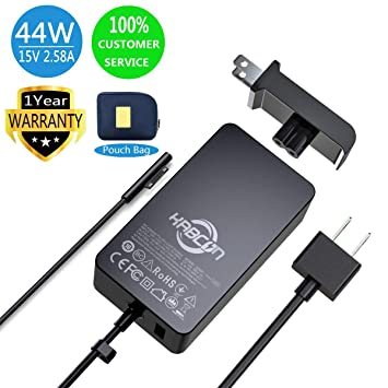 44w Charger for Microsoft Surface Pro 2017,Surface Pro 6,Surface Laptop  2,15V 2 58A Power Supply for Surface Go,Surface Laptop,Surface Pro 3 Pro