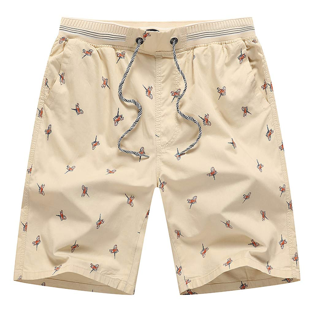 Mens Big /& Tall Shorts Lightweight Straight Fit Elastic Waist Cotton Cargo Shorts
