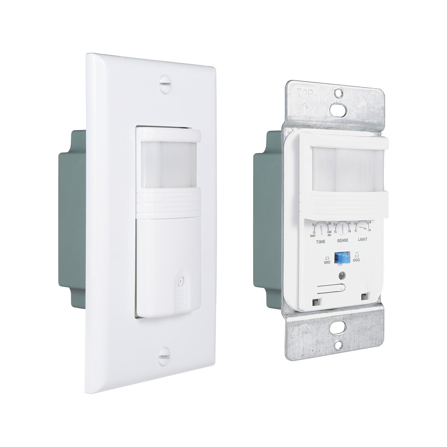 Pack Of 4 White Motion Sensor Light Switch Neutral Wire Required Wiring Diagram Get Free Image About Single Pole Only For Indoor Use Vacancy Occupancy Modes Title 24