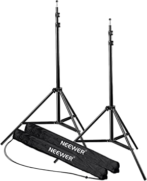 Neewer 2-piece 7ft Aluminum Alloy Light Stands for Video Photography Lighting