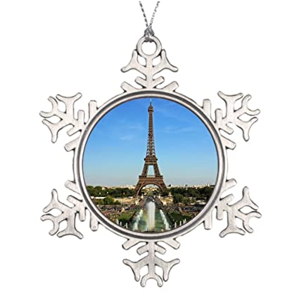 SMALL Poppy Xmas Trees Decorated The Eiffel Tower Outdoor Christmas ...