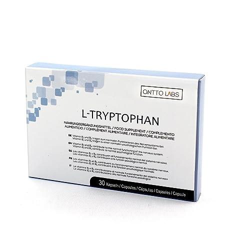 OnttoLabs Triptofano - Tabletas Naturales para Reducir la Ansiedad y el Estrés con L-Triptofano