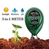 Diiker Soil pH Meter Soil test kit, 3-in-1 Soil Tester Can test Moisture, Light and pH for Garden,Lawn,Farm, Yard, Plants,Herbs,Gardening Tools Testing Indoor and Outdoors Plant (No Battery Needed)