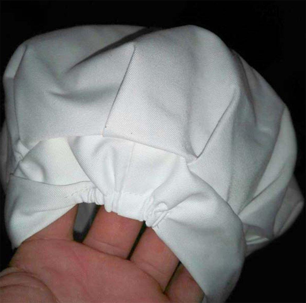 5 pezzi Jungen di colore bianco misura regolabile cappello da chef per bambini