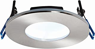 Matt White Finish Die Cast Aluminium Fire Rated Warm White LED Anti Glare Low Profile Ceiling Downlight Spotlight IP65 Rated for Bathroom, Shower, Kitchen, Lounge etc.