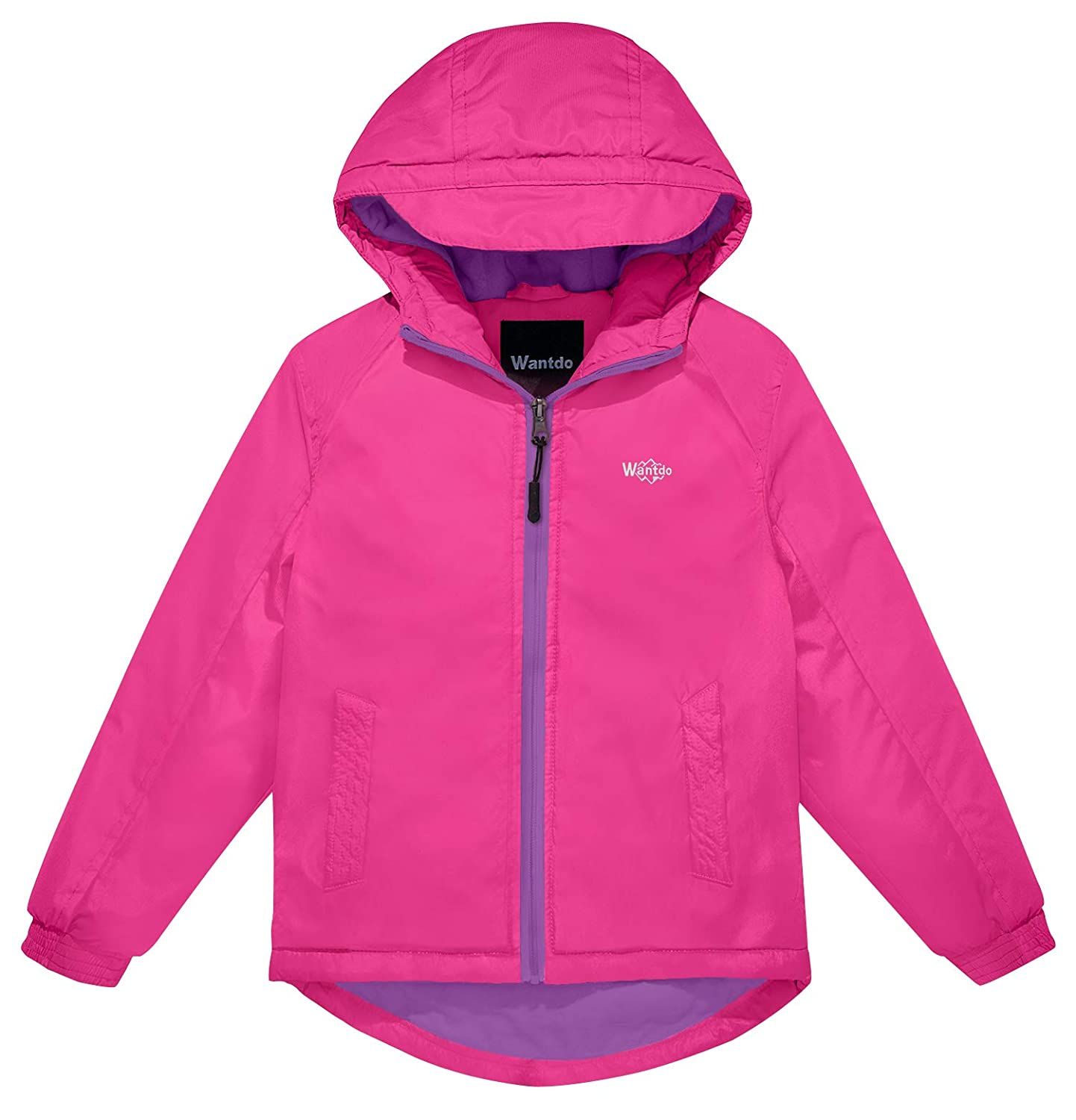 Wantdo Girl's Hooded Spring Jacket Windproof Fleece Ski Jacket