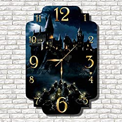 Harry Potter - Hogwarts 17 x 11 Handmade Wall Clock - Get unique décor for home or office – Best gift ideas for kids, friends, parents and your soul mates