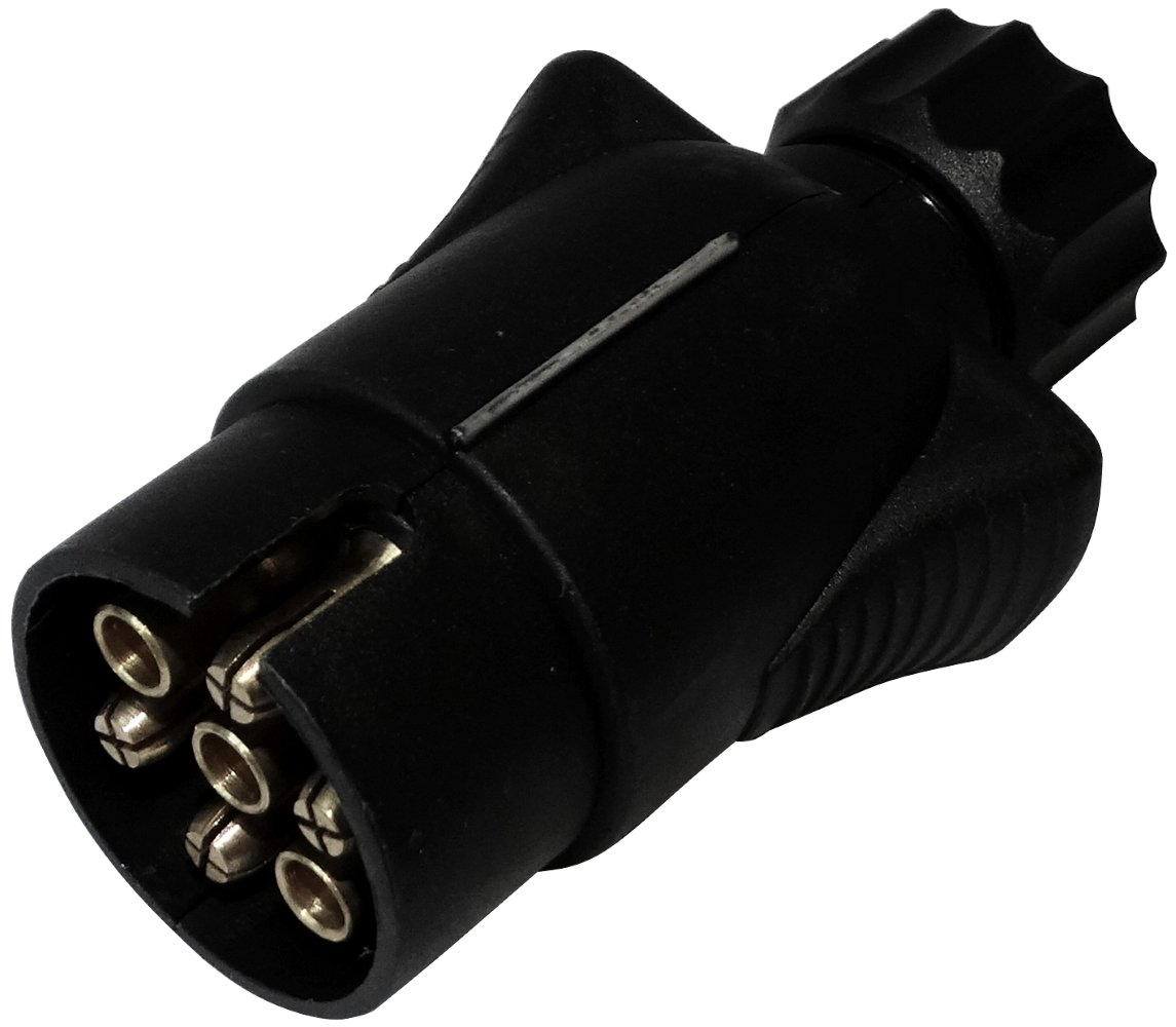 AERZETIX: Enchufe 7 pin macho toma conectador de remolque 7 broches 12V 10mm C12373 enganche haz cablea cableado luces traseras stop