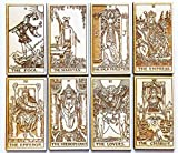 LumEngrave Wood Engraved Tarot Card Deck Rider Waite Collectible 78 Wooden Card Set Major & Minor Arcana Tarot Cards Occult Gift Astrology Gift (Full Deck (78))