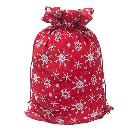 Amosfun - Bolsa gigante de Navidad para envolver regalos de ...