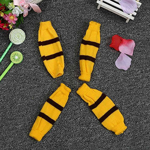 6Pc/Set Dog Pet Puppy Hat Scarf Leg Warmer Pet Clothes Neckerchief Autumn Winter Dog Cat Scarf Collar Pet Scarf Teddy Poodle Scarf Bichon Scarf Dog Bibs Dog Bandana Scarf (Yellow, S) by succeedtop (Image #5)
