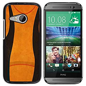 rígido protector delgado Shell Prima Delgada Casa Carcasa Funda Case Bandera Cover Armor para HTC ONE MINI 2 / M8 MINI - Abstract Black Orange-