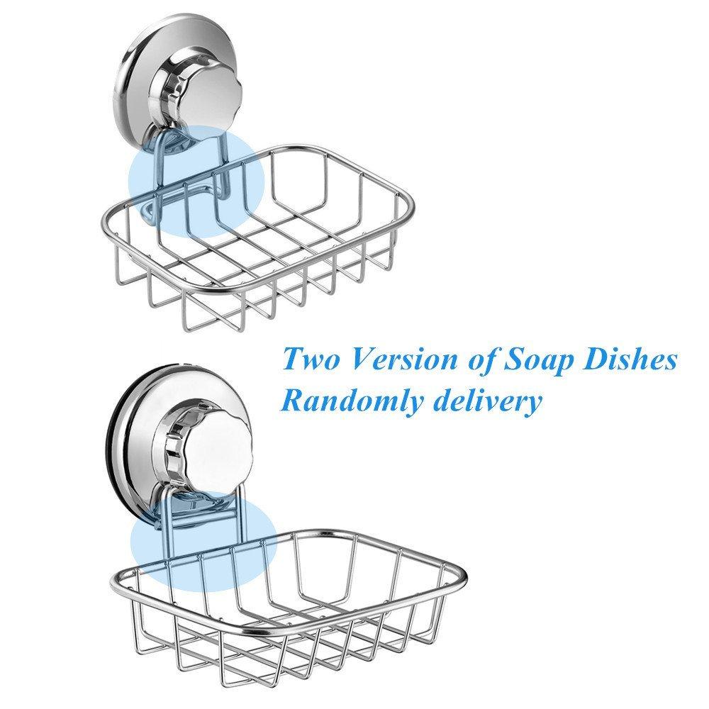 Bar soap sponge holder for shower tub and kitchen sink bathroom rust proof stainless steel san807 sanno vacuum