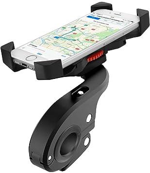 Faneam Soporte Movil Bicicleta Anti Vibración Soporte Telefono Bici Moto con 360° Rotación Universal Soporte