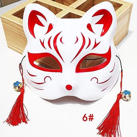 FYPmj máscara Máscara de Zorro Pintado Estilo japonés y Viento ...
