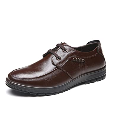 THWS Schuhe Herren Spitze Schuhe Business Casual, Braun, 44