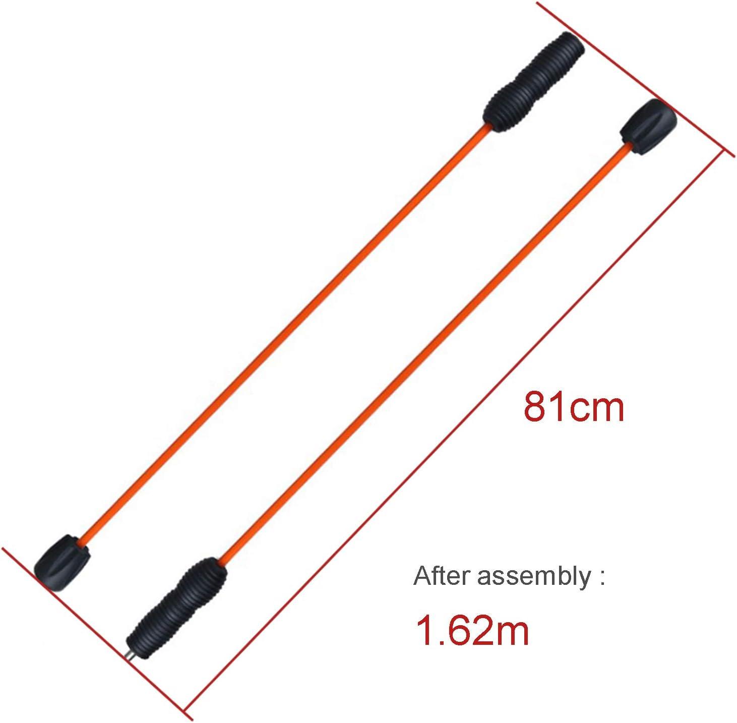 JEEZAO Barras de Pesas Flexbar Swing Stick Barra oscilante Entrenamiento Fitness para Todo el Cuerpo Desmontable,160 cm Mejorar Rendimiento y flexibilidad Dos Secciones
