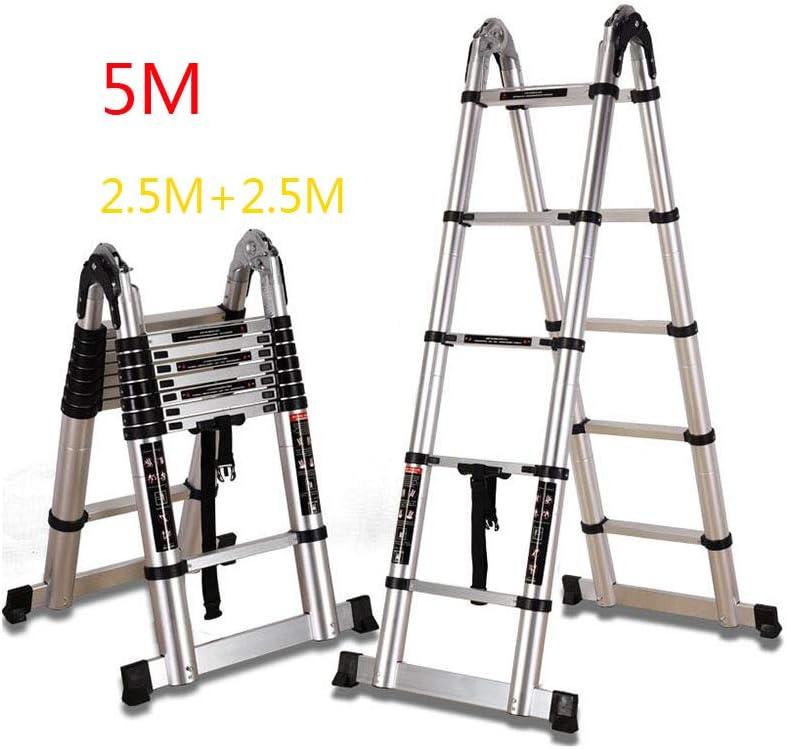 FH Escalera de Aluminio para el hogar, Escalera telescópica Recta, Escalera de Escalera de ingeniería portátil con Espesor, Antideslizante.: Amazon.es: Hogar
