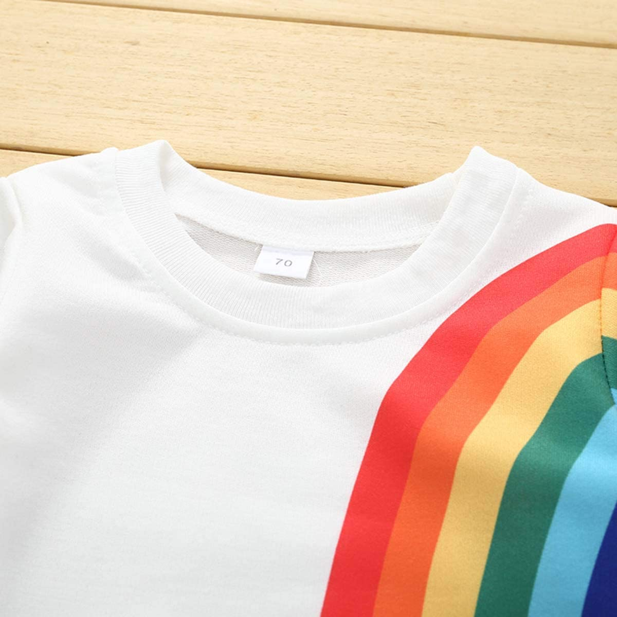 GoBabyGo Baby Girls Springtime Soft Rainbow Top Blouse Long Sleeve Toddler Casual Tops
