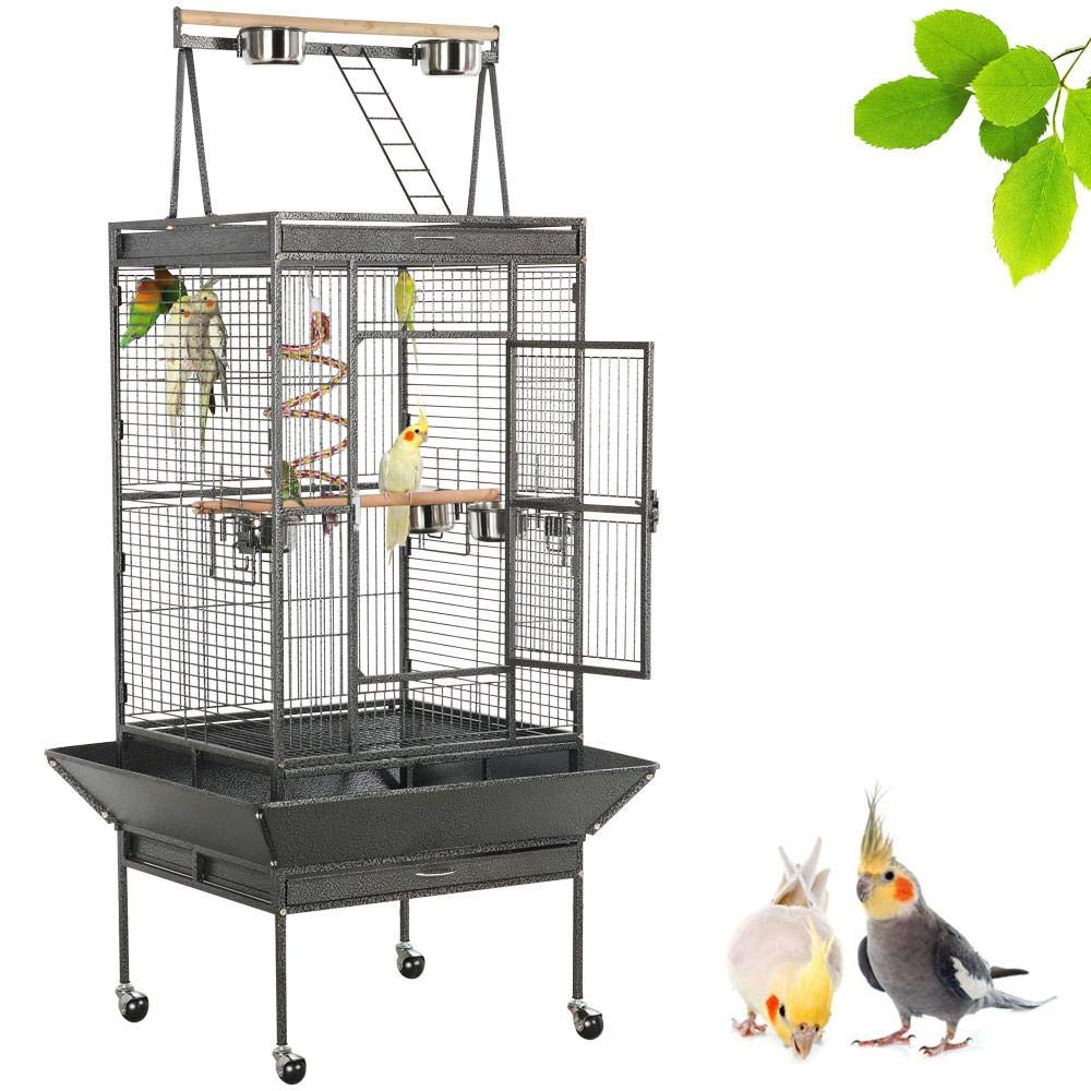 Yaheetech 68-inch Large Bird Cage for African Grey Amazon Parrot with Play Top by Yaheetech