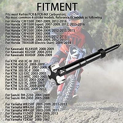 Air Fuel Mixture Screw CNC Adjust Carb FCR Air Screw for KEIHIN Carburetor Four-Strokes FCR Carbs Honda KTM Yamaha Suzuki Motorcross Motorcycle (Black): Automotive