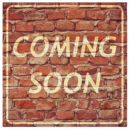 8x8 Coming Soon Ghost Aged Brick Wind-Resistant Outdoor Mesh Vinyl Banner CGSignLab
