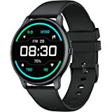 YAMAY Smart Watch Compatible iPhone and Android Phones IP68 Waterproof, Watches for Men Women Round Smartwatch Fitness Tracke
