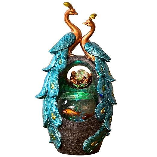 Fuente de agua creativa en forma de pavo real Fuentes de interior ...