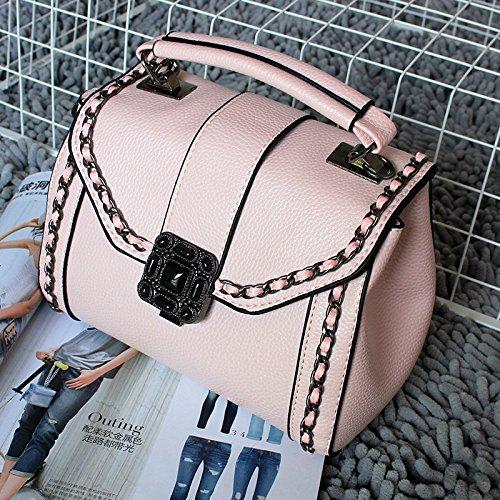 OME&QIUMEI Lady'S Solo Bolso Con Bolsa Pequeña Y Pequeña Bolsa De Arroz Blanco Light pink