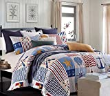 Duke Imports DQ508T 3 Piece Anchors Away Quilt Set, Twin