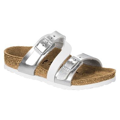 62753beb8 Birkenstock Kids Salina Sandal Silver White Birko Flor Size 26 N EU   8.5 N  US