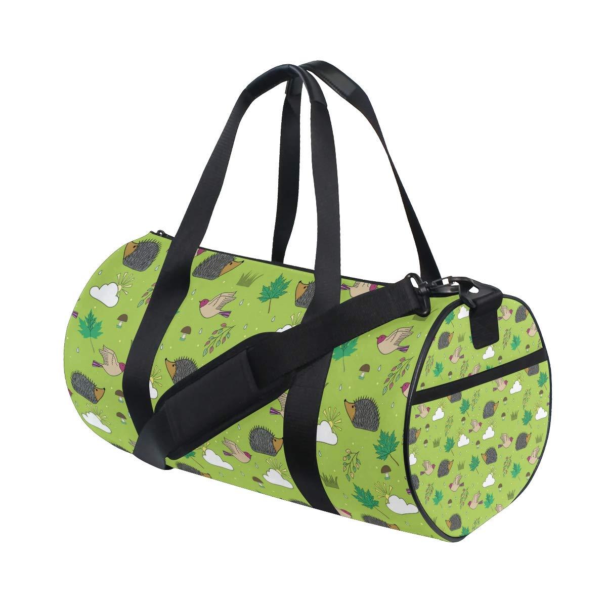 Unisex's Hedgehog Duffel Bag Travel Tote Luggage Bag Gym Sports Gear Drum Set Equipment Travel Luggage Bag