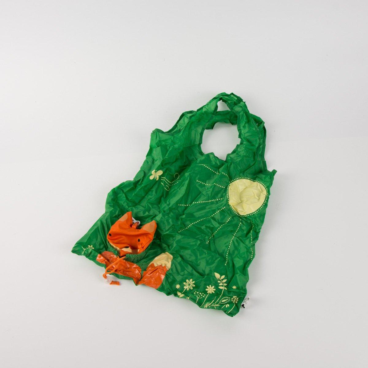 Fox Shopping Bag Ecologica Riutilizzabile Pieghevole Design