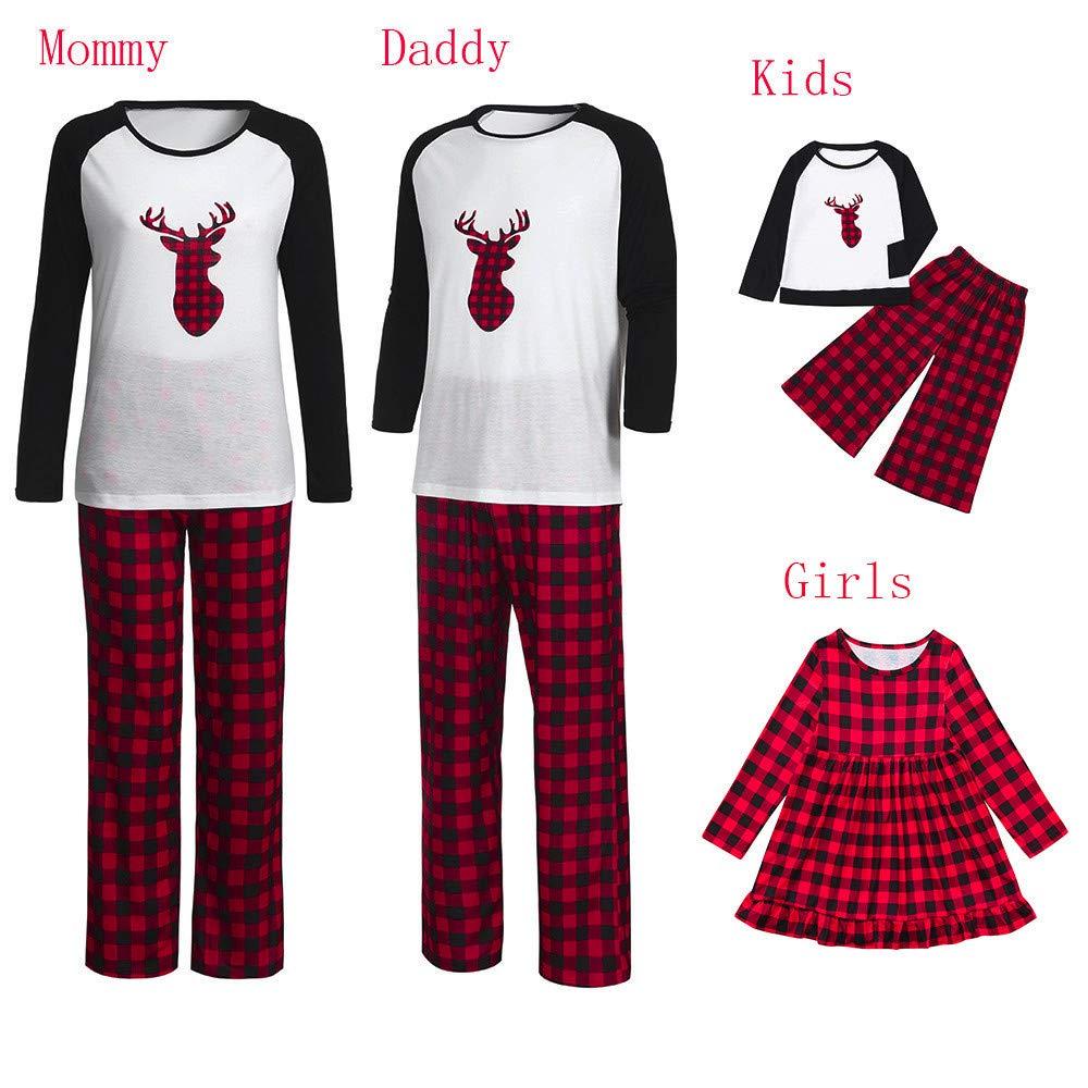 80bc8d3c5e90 Amazon.com  Lurryly❤Family Matching Pjs for Christmas Kids Women T Shirt  Pants Pajamas Sleepwear Outfits  Clothing