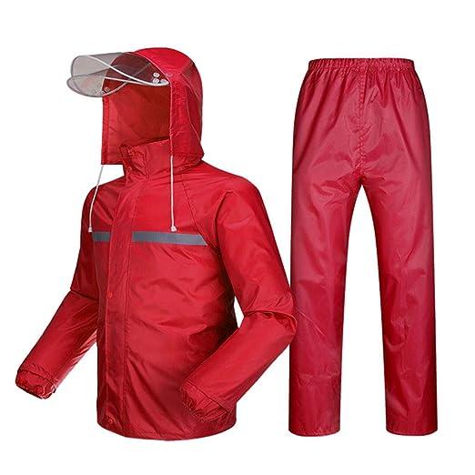 YXF-Chubasqueros Rojo Traje de Pantalones Impermeables ...