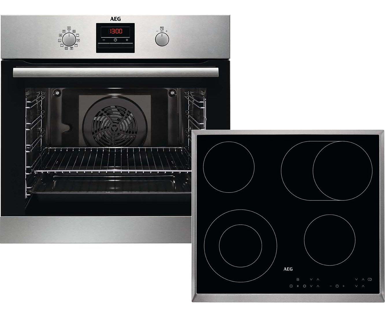 AEG Kombi B 302 P Cerámico Horno eléctrico sets de electrodoméstico de cocina - Sets de electrodomésticos de cocina (Cerámico, Vidrio y cerámica, Negro, ...