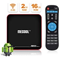 Android TV BOX, MECOOL M8S PRO W Android 7.1 TV BOX 2GB RAM/16GB ROM Amlogic S905W Quad Core, Best Android UI,HD 4K Internet Media Players