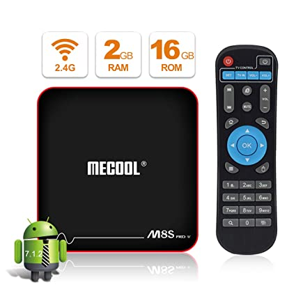 Android TV BOX, MECOOL M8S PRO W Android 7 1 TV BOX 2GB RAM/16GB ROM  Amlogic S905W Quad Core, Best Android UI,HD 4K Internet Media Players