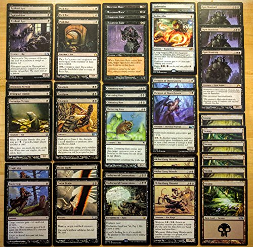 Magic: The Gathering Modern Legal Rat Discard Deathtouch Black Custom Magic Deck by Dan of the Many