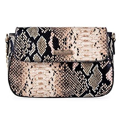YAOSEN Women Snakeskin Pattern Shoulder Bag PU Leather Handbag Purse