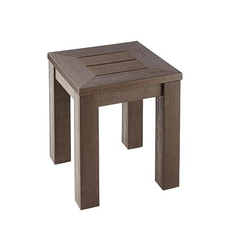 Amazoncom Hampton Bay Tacana Durable Polywood Outdoor Side Table