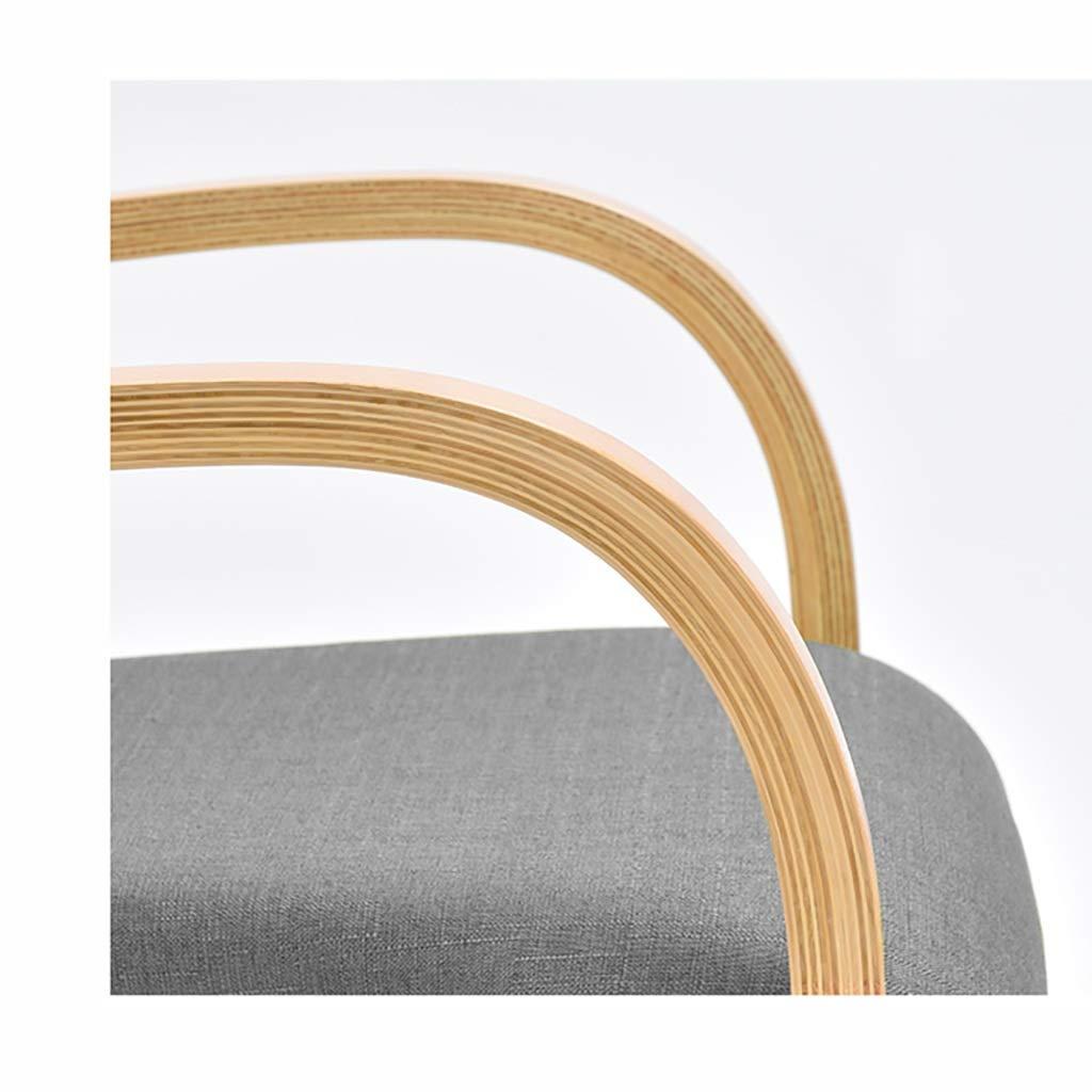 Colore : A 46,5 cm 52,5 GAIQIN Forte e Durevole Sedia in Legno massello-Schienale Semplice Scrivania Sedia-Tempo Libero Poltrona-Adulto Sedia da Pranzo 83