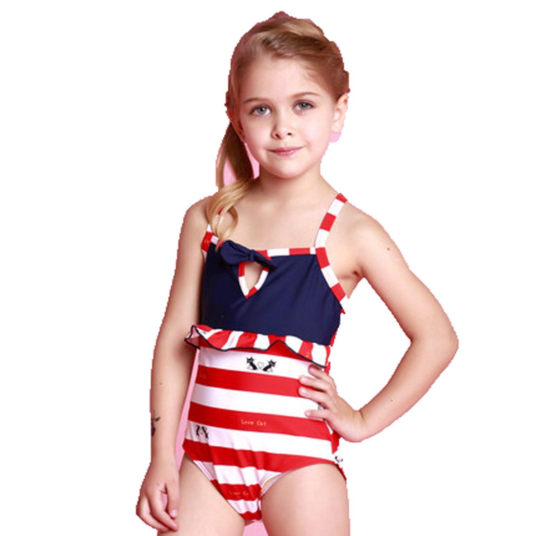 9e22fd9805cf8 Amazon.com: Children kids swimwear baby girls one piece swimsuits cute bathing  suits: Clothing