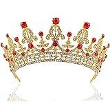 ROSENICE Tiara Bridal Headpieces Rhinestone Princess Tiara Baroque Headbands(Golden) by ROSENICE