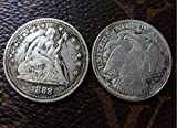 1888 SEATED LIBERTY QUARTER DOLLAR coins