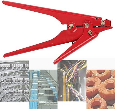 Alicates para atar cables, pistola de alambre – instalar y cortar corbatas de nailon de plástico, cierre de tensión, ergonómico acero al carbono herramienta de mano de corte práctico: Amazon.es: Bricolaje y