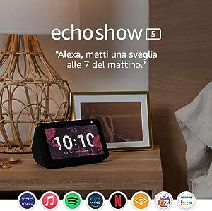 Echo Show 5 – Resta sempre in contatto con l'aiuto di Alexa, Nero