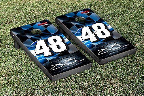 NASCAR Jimmie Johnson #48 Cornhole Game Set Racing Flag Version Jimmie Johnson Bean Bag