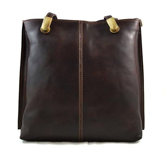Bolso mujer piel bolso de mano bandolera en piel bolso de cuero bolso de  espalda mochila 45b8fa58f7af